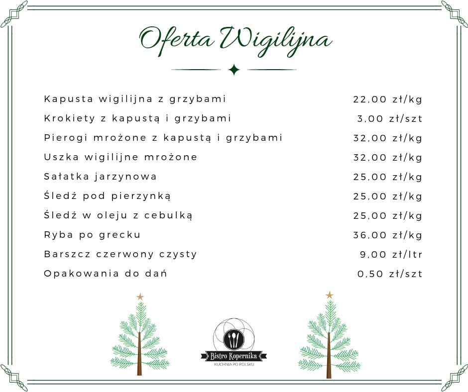 Wigilia Olsztyn na wynos